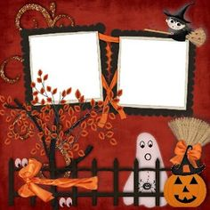 : HALLOWEEN SCRAPBOOK LAYOUT