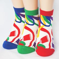 FLUORESCENCE PAINTS SOCKS 3PAIRS=1PACK Made in KOREA women woman girl big kids #COLORMIX #allStyle