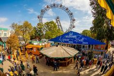 Your Guide to Vienna's Oktoberfest: The Wiener Wiesn' Festival — Carly Hulls— Squarespace templates and free resources for creative entrepreneurs. Vienna Prater, Austria, Places To Go, Fair Grounds, Patio, City, Outdoor Decor, People, Travel