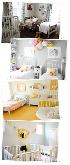 Shared Kids Rooms - Shared Nurseries want my girls to share a room . It will teach them to be best friends, communicate & not run from difficult situations.