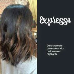 Expresso. Dark brown with light brown highlights