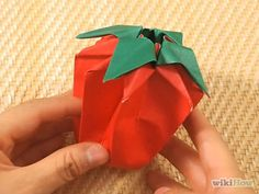 How to make an origami Strawberry
