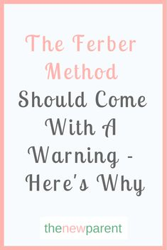 The Ferber Method is hugely controversial yet still very popular. Learn why this approach can be detrimental to your baby's wellbeing and what to do instead. Crying It Out Method, Cry It Out, Ferber Method Chart, Sleep Training Methods, Baby Sleep Training, Baby Life Hacks, Sleeping Alone, Sleep Schedule, Sleeping Through The Night