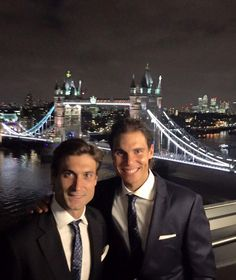 David Ferrer & Rafael Nadal in London for the ATP World Tour Finals. November 12th 2015.