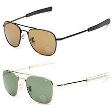 2015 New Army MILITARY AO Sunglasses American Optical Glass Lense Alloy Frame Quality Sunglass Oculos De Sol Sun glasses (China (Mainland))