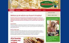 website Zuurkoolrecepten.nl voor Kramer's Krautboy