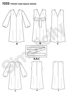 Pattern Reviews> Simplicity> 1059 (Misses' Jiffy Dress and Sash or Scarf)