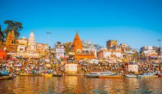 The Spiritual Capital of India, Varanasi - Sitting on the ghats of the 'city of lights' and watching the Ganga flow quietly is a serene experience dose of spirituality.   #VacationTravel #Travel #Temple #Varanasi #Ganga #Sarnath #pilgrim