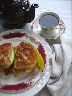 Apple Bacon Grilled Cheese Sandwich for High Tea
