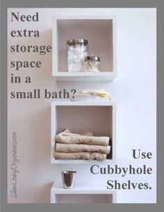 Add extra storage space in the bathroom. I might be able to do this in my master bath!