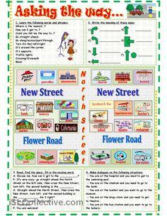 Asking the way... worksheet - Free ESL printable worksheets made by teachers