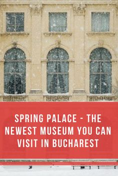 The Spring Palace in Bucharest is now open to the public. The palace was built in the '60s at the communist leader's command. Nicolae Ceausescu lived there along with his wife, Elena and their three kids, Nicu, Zoe and Valentin. Here are more details about its history. https://travelmakertours.com/spring-palace-the-newest-museum-you-can-visit-in-bucharest