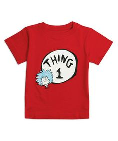 Red 'Thing 1' Tee - Infant
