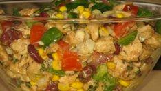 Famózní kuřecí salát se zeleninou bez majonézy - připravený za 15 minut! - Vychytávkov