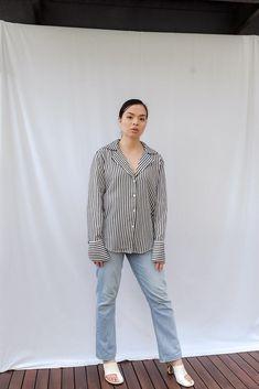Elora Striped Shirt Paige Denim, Size Model, Colour Black, Color, Product Description, Black And White, It's Easy, Jeans, How To Wear