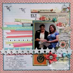 Scrapbook Layout, American Crafts ribbon, MME papers, Leaky Shed chipboard