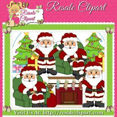 Santa 3 Clipart Digital Download by MaddieZee on Etsy, $1.50