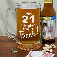 Personalized Birthday Glass Mug is the perfect personalized birthday gift for your 21 year old. Celebrate this milestone birthday with good friends & cold beer. All Personalized Beer Steins are engraved for Free. Glass Beer Mugs, Wine Glass Set, Clear Glass, 21st Birthday Glass, Birthday Beer, Birthday Ideas, Birthday Cakes, Birthday Gifts, Happy Birthday