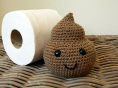 Poopy amigurumi plush with cute smiley face by LottiesCreations