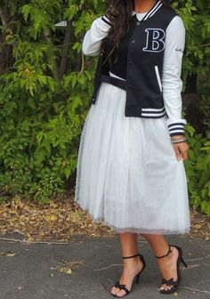 varsity jackets and tulle skirts - Google Search