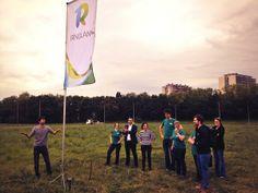 Groen Antwerpen plant de Ringland-vlag naast de ring van Antwerpen