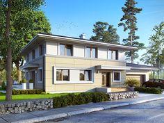 DOM.PL™ - Projekt domu MT Adam CE - DOM MS2-88 - gotowy projekt domu