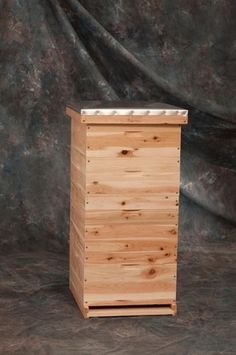 What Is a Langstroth Beehive?: A 10-frame cedar Langstroth beehive by Evans Cedar Beehives.
