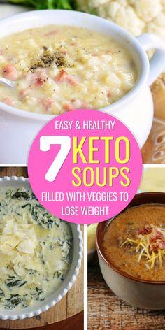 Ketogenic Recipes, Low Carb Recipes, Soup Recipes, Cooking Recipes, Ketogenic Diet, Vegan Keto, 7 Keto, Keto Soup, Soups