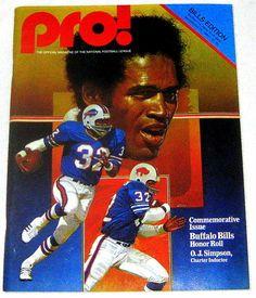 1980 Buffalo Bills vs New York Jets Game Program Rich Stadium OJ Simpson Cover - $19.99