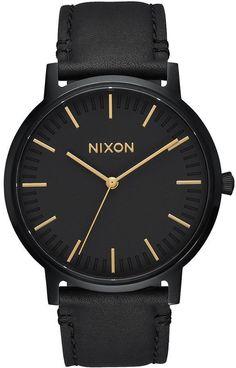 Nixon Porter Leather Watch 0e65978c85