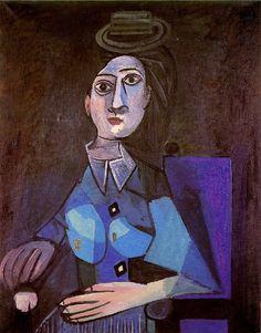 Pablo Picasso, 1942 Femme assise au petit chapeau rond