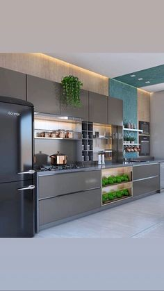 Luxury Kitchen Remodel with Gray Cabinet and Black Marble Countertop Secrets - homesuka Luxury Kitchen Design, Kitchen Room Design, Contemporary Kitchen Design, Kitchen Cabinet Design, Home Decor Kitchen, Interior Design Kitchen, Home Design, Design Ideas, Kitchen Ideas