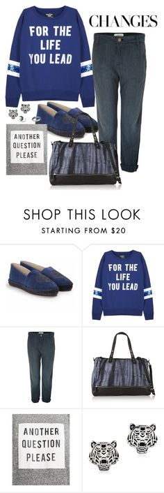 """《☆》"" by bluveraa ❤ liked on Polyvore featuring Kenzo, Current/Elliott, Maje, Zara and Topshop"