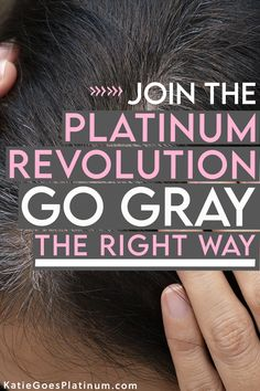 Are you tired of chasing your roots? Sick of spending a ton of money on hair dye, or worried about the health effects of pouring chemicals onto your head every few weeks? Then it might be time to think about growing out your gray hair! Click here to find out how to start your gray hair journey. Grey Hair Journey, Transition To Gray Hair, Bleach Color, Platinum Grey, Transitioning Hairstyles, Beanie Pattern, Going Gray, Going Natural, Grow Out