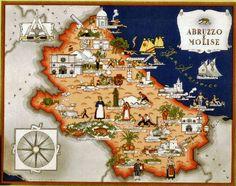 """Abruzzo e Molise Italia Viva (1941) autore: Giovanni De Agostini editore: Societa Anonima Editrice """"Italgeo"""" (Italia)"""