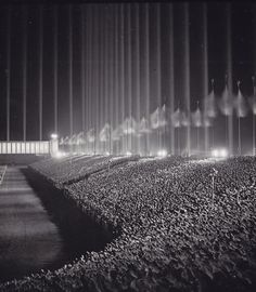 Another view of the Cathedral Of Light (Nuremberg rally)