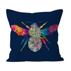Display your love for Manchester's rich working past with this eye-catching cushion design from Meha Art. Set on a deep navy background, Meha's worker bee drawing is decorated with highlights from her cityscape drawing. Cityscape Drawing, Bee Drawing, Navy Background, Fabulous Fabrics, Pet Portraits, Cushion Covers, All Art, Manchester, Blue Grey