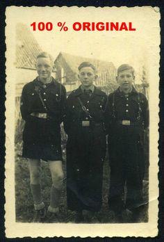orig. WK2 FOTO - HJ PIMPFE - JUGEND IN UNIFORM - Kriegsende 23.März 1945