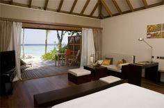 Room interior at Veligandu Island Resort & Spa -->>> www.voyagewave.com