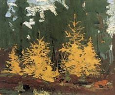 Tom Thomson 'Tamarack' (Group of Seven) Tom Thomson, Emily Carr, Canadian Painters, Canadian Artists, Landscape Art, Landscape Paintings, Landscapes, Group Of Seven Artists, Park Art