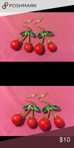 New Dangle Cherry Pierced Earrings New Dangle Cherry Pierced Earrings Jewelry Earrings