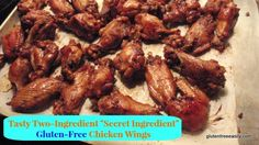 """I recommend using Raw Coconut Aminos in place of GF soy sauce!  Two-Ingredient """"Secret Ingredient"""" Gluten-Free Chicken Wings"""