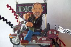 MOTORCYCLE CAKE TOPPER created to look like you My custom cake toppers are all hand sculpted and hand painted just for you, at the time you order . #motorcycle #birthday #caketopper #partyideas