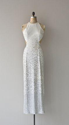 White Light White Heat dress vintage white sequin by DearGolden