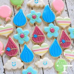 Trolls Birthday Party, Troll Party, 3rd Birthday Parties, 2nd Birthday, Birthday Ideas, Mini Cookies, Cut Out Cookies, Cupcake Cookies, Sugar Cookies
