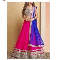 Wedding Ideas & Inspiration Bright Pink Bridal lehenga and saree Indian Bridal Wear, Indian Wedding Outfits, Indian Outfits, Mehendi Outfits, Indian Clothes, Indian Look, Indian Ethnic Wear, Saris, Hindu Girl