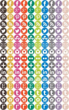 Craftiments:  Free Social Media Icons including RAVELRY!