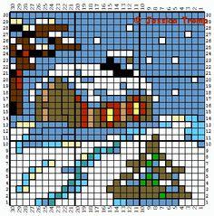 Winter perler bead pattern