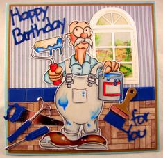 """Dunderton Decorators Ltd"" digi stamp http://www.doctor-digi.com/digital-stamp-dundertons/-dunderton-decorators-ltd-digital-stamp Card by Gudrun http://artesaniaskarten.blogspot.no/"