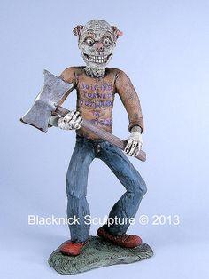 Creepy Clown Horror Art Figure by BlacknickSculpture on Etsy